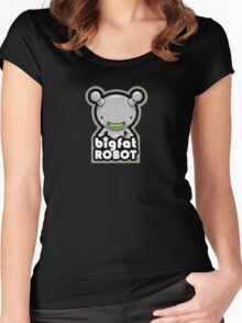 Big Fat Robot with text Women's Fitted Scoop T-Shirt