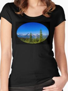 The Monashee Mountains Women's Fitted Scoop T-Shirt