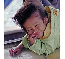 Vietnamese Boat Child Photographic Print