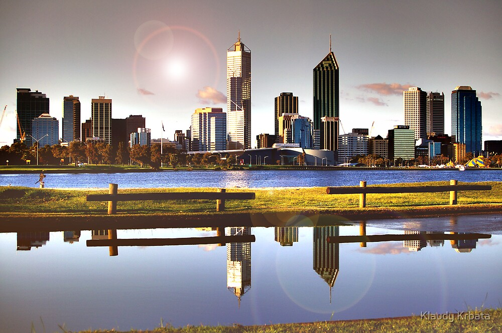 reflection of perth by Klaudy Krbata