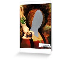 untitled [Mirrorface] Greeting Card