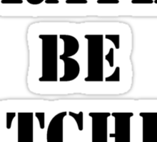 Right Now, I'd Rather Be Watching The Fight - Black Text Sticker