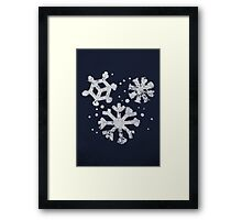 Misfits-Style Halftone Grunge Snow Icon Framed Print
