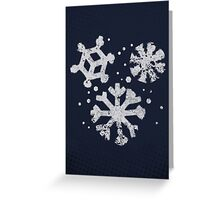 Misfits-Style Halftone Grunge Snow Icon Greeting Card