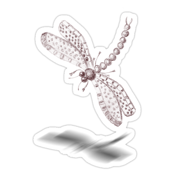 Sketch of a Dragonfly by georgiegirl