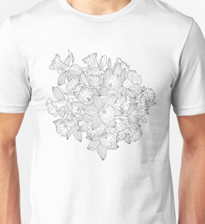 Daffodil Bouquet for Coloring Unisex T-Shirt