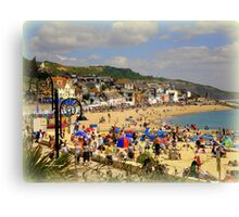 A Crowded Beach Canvas Print