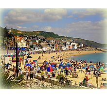 A Crowded Beach Photographic Print