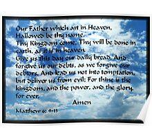 Lords Prayer throw pillow Poster