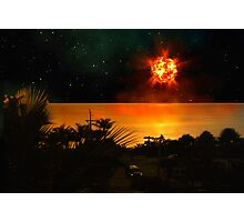 The Last Sunset. Photographic Print
