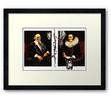 Monty and Python - large print Framed Print