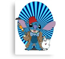Doctor Who Stitch Canvas Print