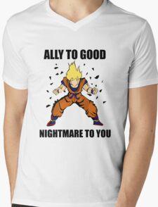 Goku powerup Mens V-Neck T-Shirt