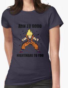 Goku powerup Womens Fitted T-Shirt