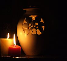 Candlelight Reflections by Martie Venter