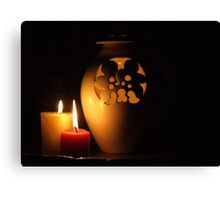 Candlelight Reflections Canvas Print
