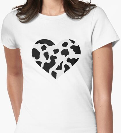 Cow heart Womens Fitted T-Shirt