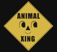 Animal Xing Street Sign by evanmayer