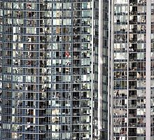 Skyscraper Reflections Detail from Harbour Tower, Vancouver City, Canada by Carole-Anne