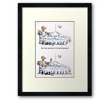 How about a smile? Framed Print