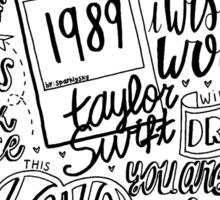 taylor swift collage Sticker