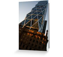 Manhattan Blues and Oranges Greeting Card