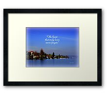 The Beauty of Zurisee Framed Print