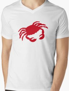Red crab Mens V-Neck T-Shirt