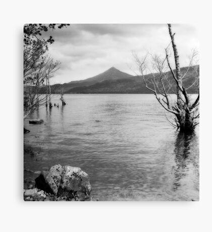 Loch Rannoch and Schiehallion, black and white Canvas Print