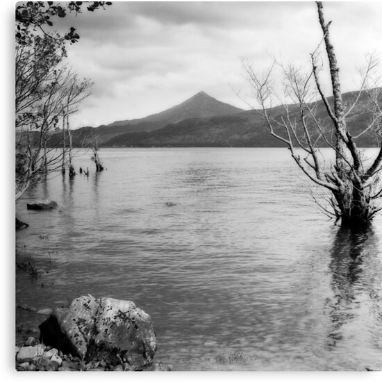 Loch Rannoch and Schiehallion, black and white by Tim Haynes