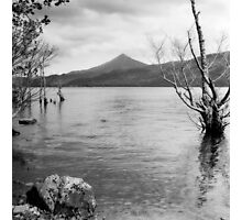Loch Rannoch and Schiehallion, black and white Photographic Print