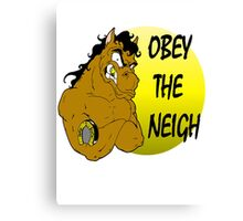 Obey the Neigh Canvas Print