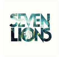 Seven Lions Art Print