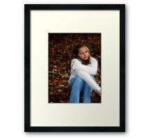 Jana and the leaves Framed Print