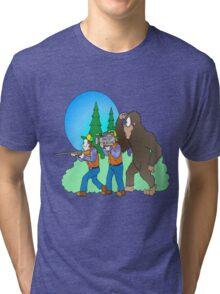 Hunting Bigfoot Tri-blend T-Shirt
