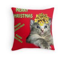 christmas card #5 Throw Pillow