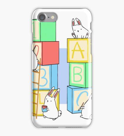 Bunnies and Blocks  iPhone Case/Skin