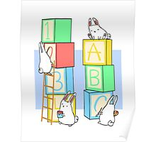 Bunnies and Blocks  Poster