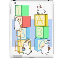 Bunnies and Blocks  iPad Case/Skin