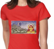 SHE CALLS TO THE MOON, ROSH CHODESH Womens Fitted T-Shirt