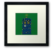 Happy Christmas from the TARDIS Framed Print