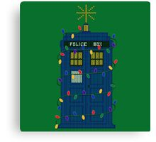 Happy Christmas from the TARDIS Canvas Print