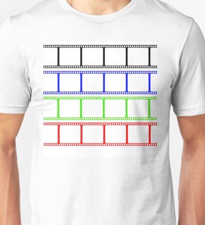 Film Stripe Colors Unisex T-Shirt