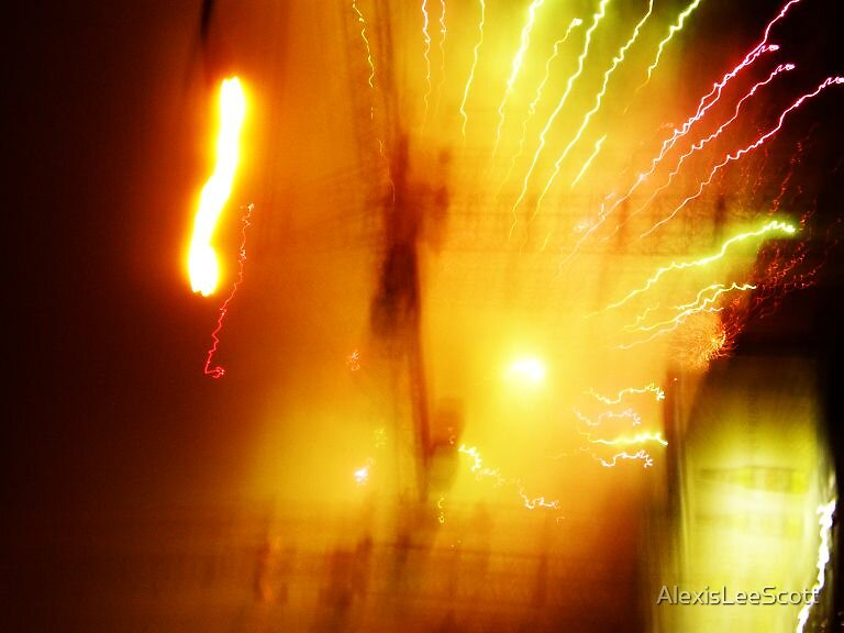 Fireworks over Cranes by AlexisLeeScott