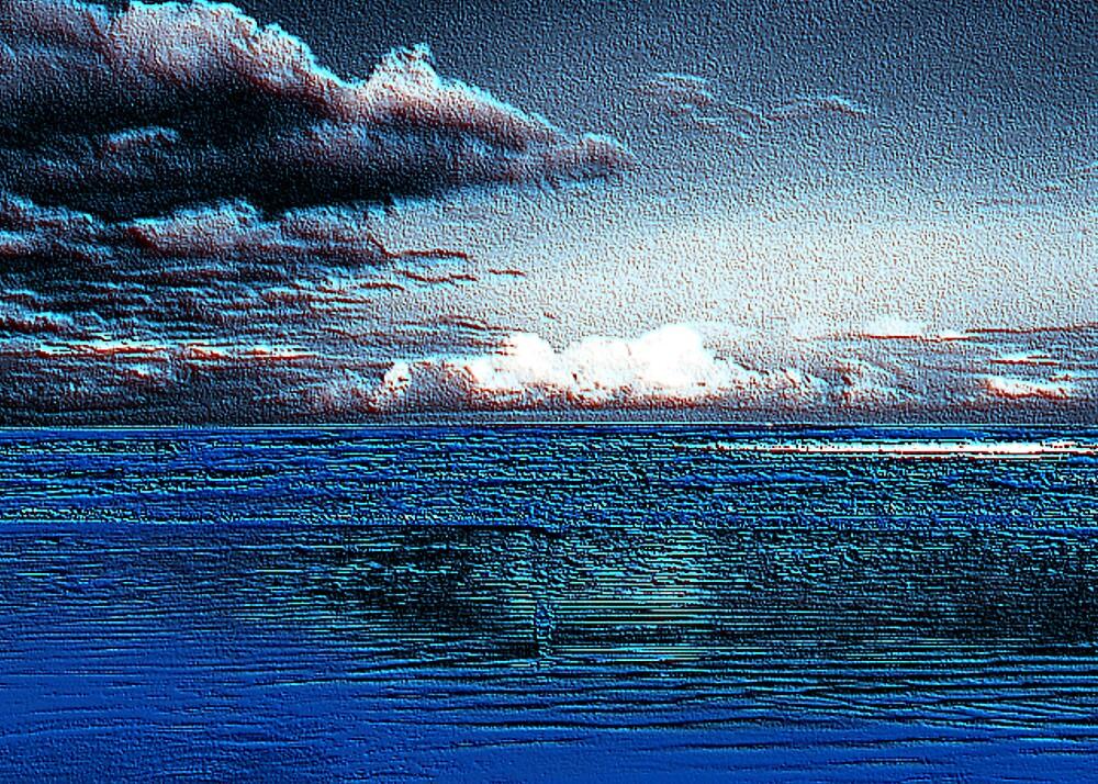 ocean storm clouds by CheyenneLeslie Hurst