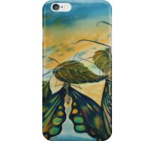 Watercolour: Butterflies on the Vine iPhone Case/Skin