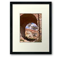 Through the djerriwarrh arch Framed Print