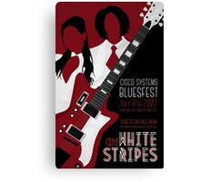 The White Stripes Art Deco Canvas Print