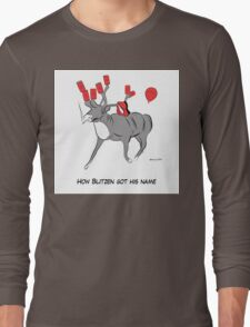 Blitzen the Christmas Reindeer Long Sleeve T-Shirt