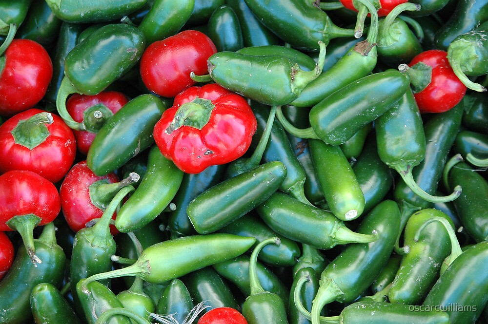 Hot Peppers by oscarcwilliams